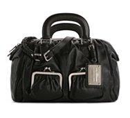 Dolce & Gabbana Leather Push Lock Pocket Satchel