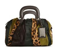 Dolce & Gabbana Fur Color Block Satchel