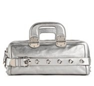 Gucci Metallic Leather Satchel