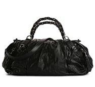 Final Sale - Gucci Leather Chain Link Satchel