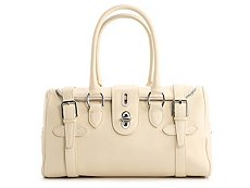 Ralph Lauren Collection Leather Turn Lock Satchel