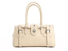 Ralph Lauren Collection Leather Turn Lock Mini Satchel