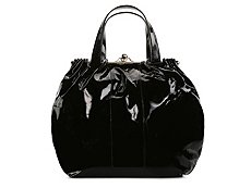 Roberto Cavalli Patent Push Lock Shoulder Bag
