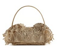Prada Metallic Lace Shoulder Bag