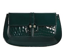 Yves Saint Laurent Patent Slip Lock Clutch