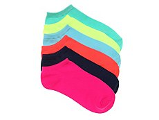 Mix No. 6 Neon Womens No Show Socks - 6 Pack
