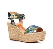 Dolce & Gabbana Fabric Wedge Sandal