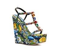 Dolce & Gabbana Fabric Wedge Sandal