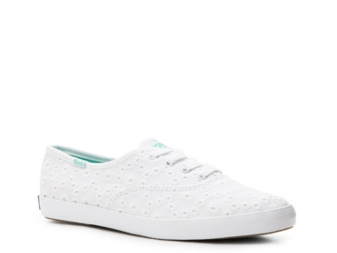 keds eyelet white shoes