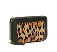 Audrey Brooke Calf Hair Leather Wallet