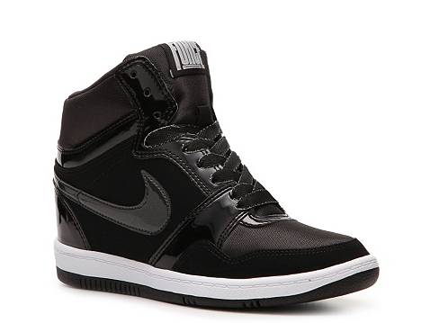 nike force sky high wedge sneaker womens dsw. Black Bedroom Furniture Sets. Home Design Ideas