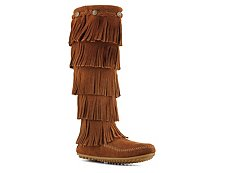 Minnetonka 5 Layer Fringe Western Boot
