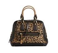 orYANY Kendal Leather Leopard Satchel