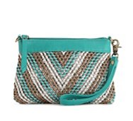 Big Buddha Sol Chevron Convertible Clutch