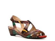 Final Sale - Rangoni by Amalfi Gualdo Multicolor Wedge Sandal