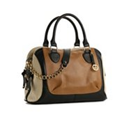 Audrey Brooke Paramount Leather Color Block Satchel