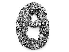 David & Young Two Tone Texture Infinity Scarf