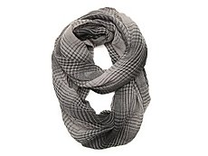 David & Young Variegated Plaid Infinity Scarf
