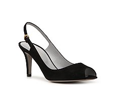 Final Sale - Sergio Rossi Suede Peep Toe Pump