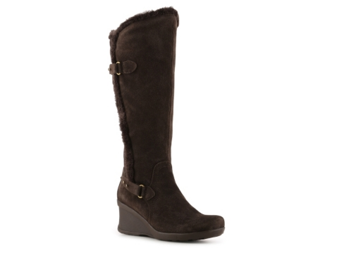 bare traps nexie wide calf wedge boot dsw