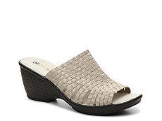 Bernie Mev Kent Metallic Wedge Sandal