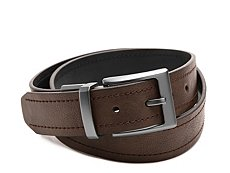 Columbia Double Stitched Reversible Leather Belt