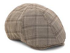 Aston Grey Glen Plaid Newsboy Cap