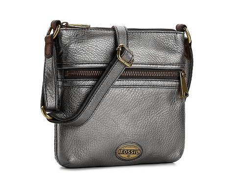 Fossil Explorer Metallic Leather Crossbody Bag Dsw