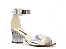 Final Sale - Ralph Lauren Collection Paloma Metallic Leather Sandal