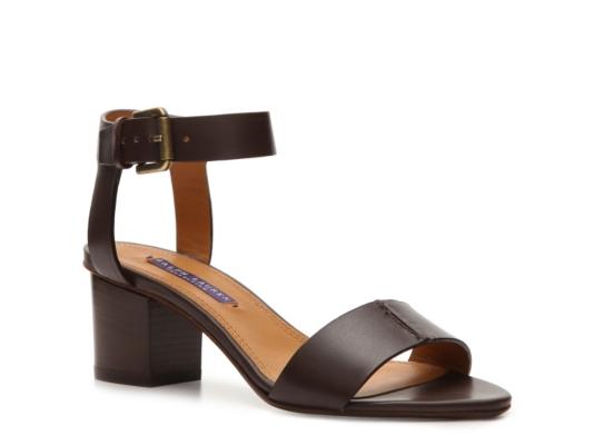 Final Sale - Ralph Lauren Collection Paloma Leather Sandal