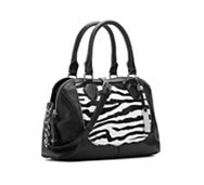 Audrey Brooke Zebra Leather Mini Satchel