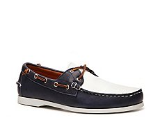 Final Sale - Ralph Lauren Collection Telford II Leather Color Block Boat Shoe