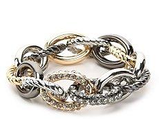 One Wink Large Chain Mix Metal Stretch Bracelet