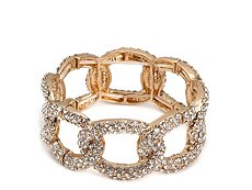 One Wink Pave Chain Link Stretch Bracelet