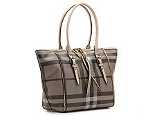 Burberry Coated Canvas & Leather Satchel