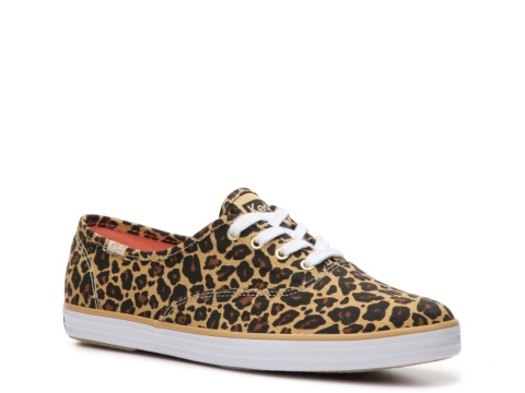 keds womens champion leopard