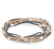 One Wink Pearl Spring Stretch Bracelet Set