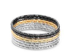 One Wink Diamond Cut Bangle Bracelets