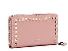 Valentino Leather Stud Wallet