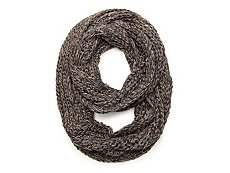 David & Young Two Tone Woven Infinity Scarf