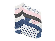 Kelly & Katie Dot Womens No Show Socks - 6 Pack