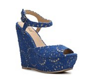 Diba Blane Crochet Wedge Sandal