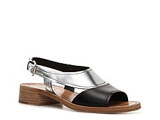 Prada Leather Metallic Sandal