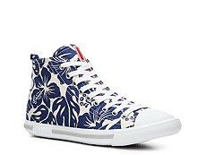Prada Hibiscus High-Top Sneaker