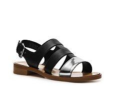 Miu Miu Metallic Leather Gladiator Sandal