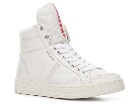 prada wallet in malaysia - Prada Leather Wedge High-Top Sneaker | DSW