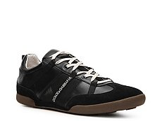 Dolce & Gabbana Leather & Suede Moto Sneaker
