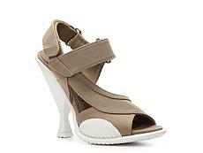 Prada Canvas Sculptured Heel Sandal