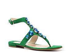 Prada Suede Jeweled Gladiator Sandal