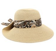 Nine West Animal Scarf Floppy Hat